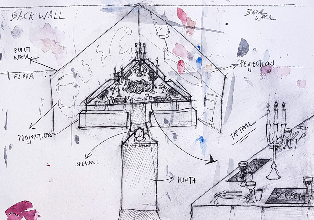 Sketch of details of in posse sketch
