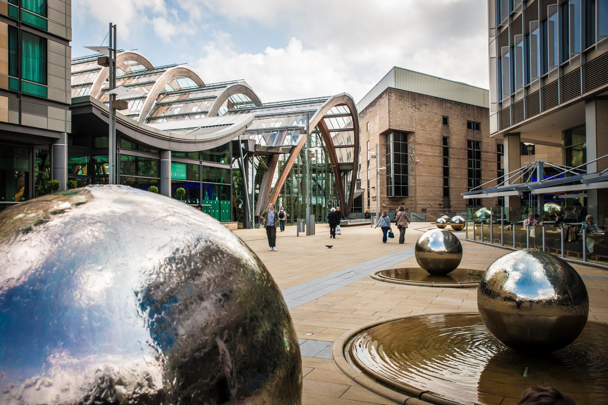 Looking through Millennium Square