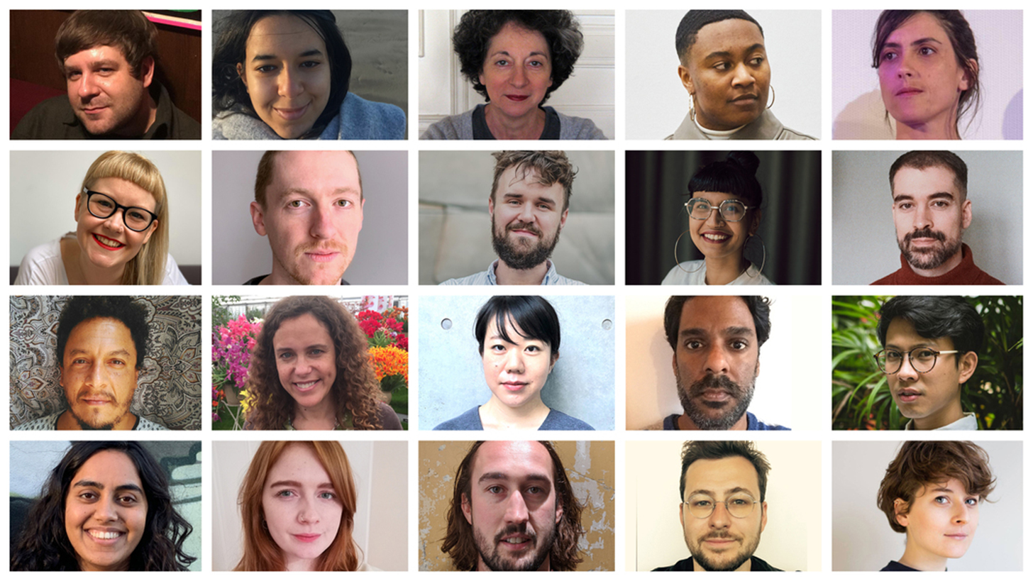 A composite image of Sheffield DocFest's artistic team for the 2021 festival