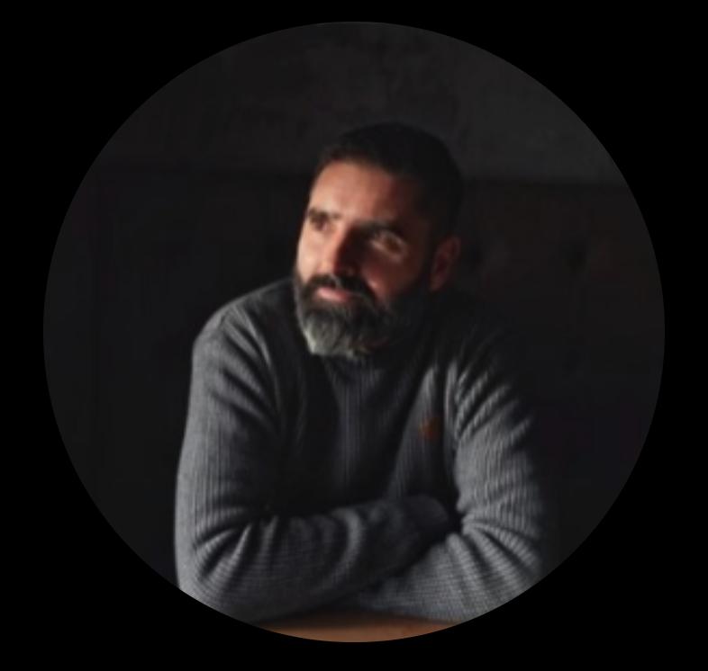 Man with grey shirt