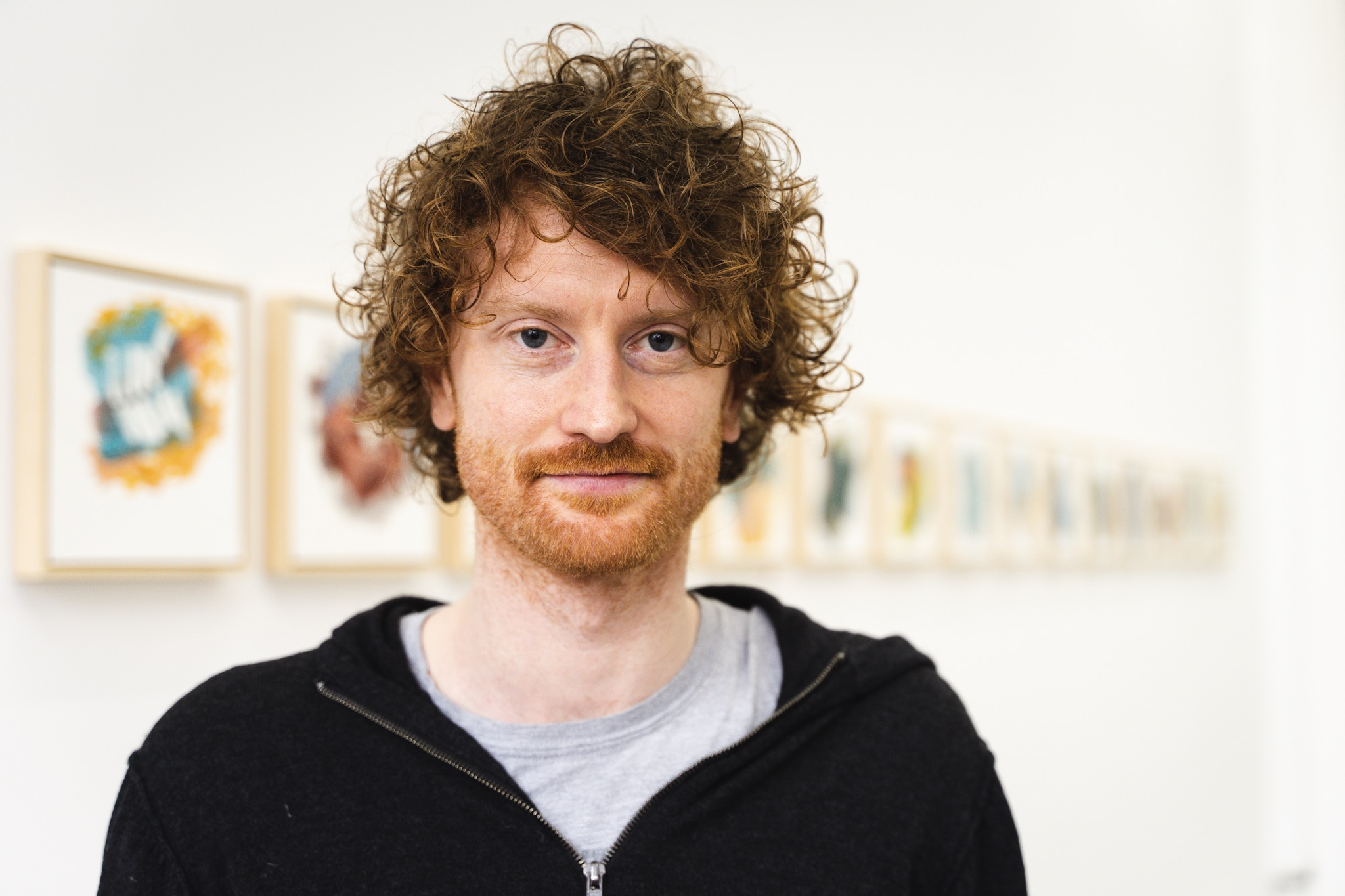 Man with curly ginger hair