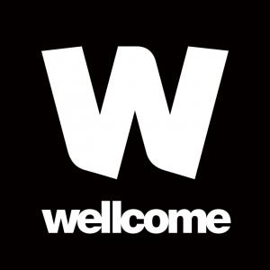 Wellcome logo with a large W letter