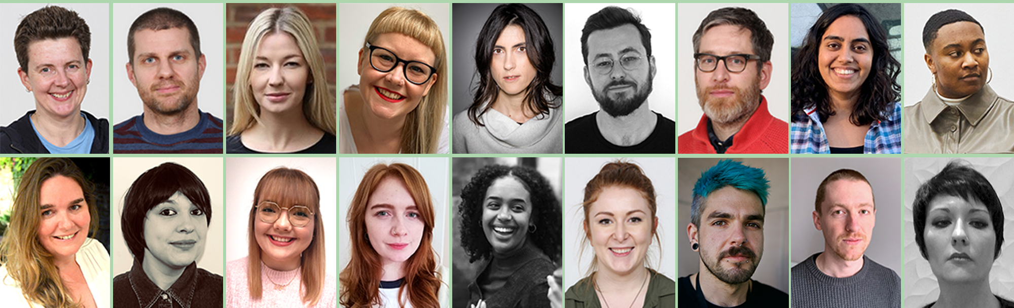 A composite of staff photos of the DocFest Team